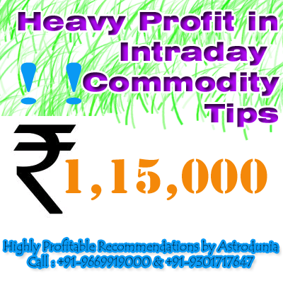 Opt for the highly profitable recommendations on commodity market by Astrodunia